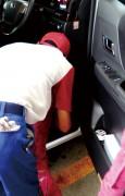 快適なドライブを••車内清掃も念入りに